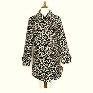 Kate Spade Leopard Print Trench Jacket - Size 2
